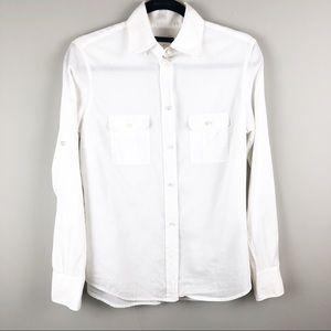 J .Crew Voile Camp cotton button down shirt medium
